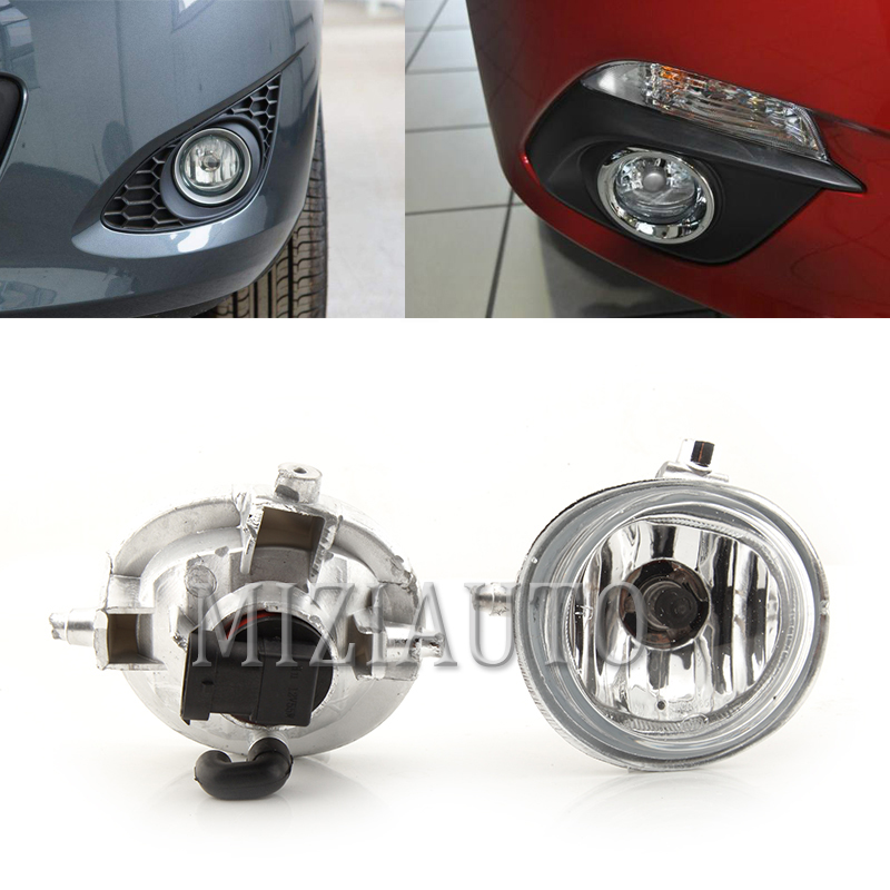 Front Bumper Fog Lamp Fog <font><b>Light</b></font> for <font><b>Mazda</b></font> 2 3 <font><b>6</b></font> CX5 CX7 CX-5 CX-7 Foglight w/H11 Halogen Bulbs image