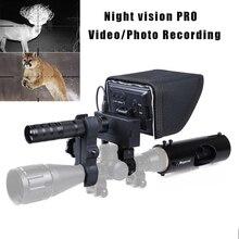Megaorei 2 охотничий прицел Ночное видение ИК оптика видео Камера инфракрасный лазерный светодиодный 400 м Ночное видение Камера