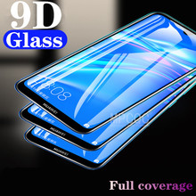 9D Full Cover Tempered Glass on the For Huawei Honor 6C Pro 7X P10 Plus Screen Protector For Nova 2i P10 Lite Protective Film protective glass red line for huawei honor 6c pro full screen 3d white