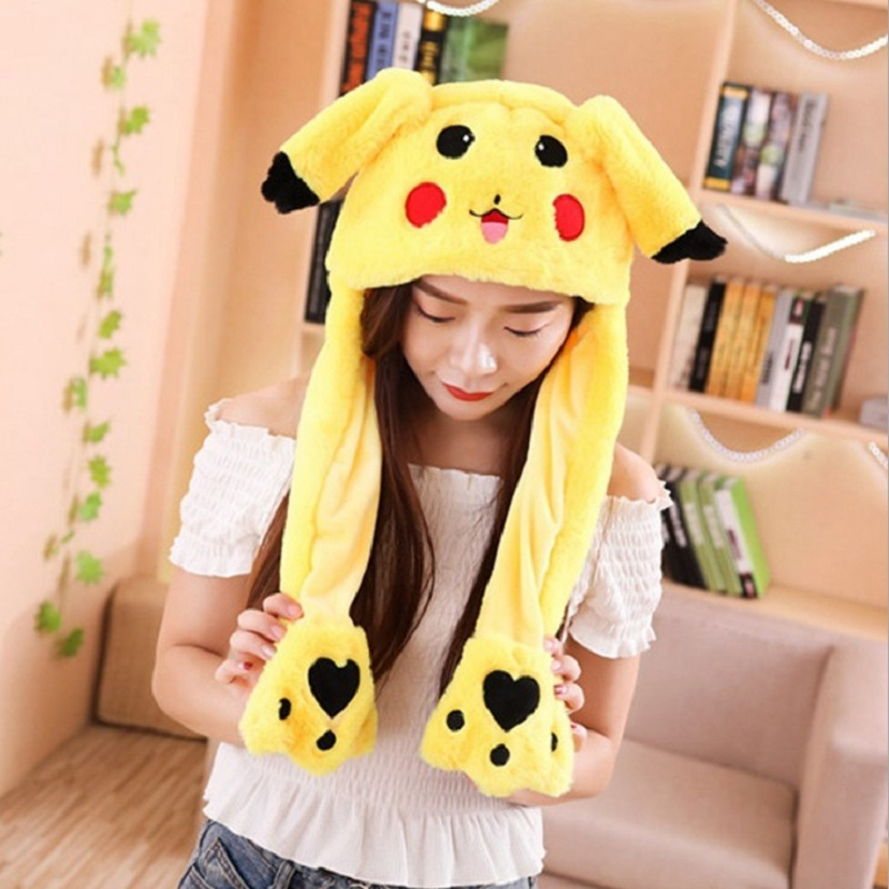 Moving Rabbit Ear Hat Velvet Toys Rabbit Hat Moves Ear Hat Toy 21 Color Self Timer Props Gifts For Children Interesting Hat