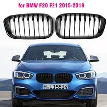 Grade dianteira da substituição do rim para bmw f20 f21 2015-2019 118i 120i 125i m140i m desempenho gloss grades pretas