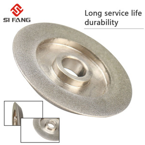 Image 1 - 78mm electroplating Diamond Grinding Wheel 45 Degree Angle Cutter Grinder Grinding Disc for Grinding Abrasive Cutting Tool  Gri