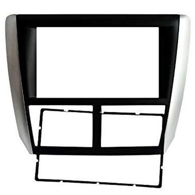 Double Din Car Radio Fascia for Subaru Forester 2008-2012 Impreza 2007-2012 Radio Stereo Dash Installation Trim Kit Frame Bezel
