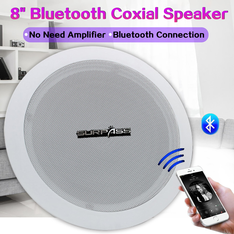 Fashion Bluetooth Coxial Speaker Household Embedded Soundbar Ceiling Speaker PA System Public Broadcast Background Music Speaker image
