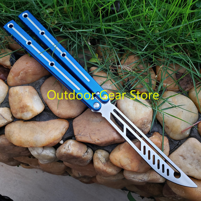 Theone Bushing System Butterfly Kraken Sea Monster Channel Aluminum Handle Hunting Trainer Knife Tactical Hunting  Edc Knife 1