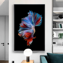 Posters and prints nordic hand painted koi fish wall art canvas oil painting abstract animal living room wall picture art