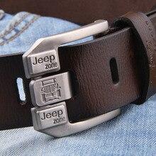 Famous Brand Luxury Designer Belts for Men Vintage Spilt Genuine Leather Pin Buckle Waist Strap Belt for Jeans High Quality 2021