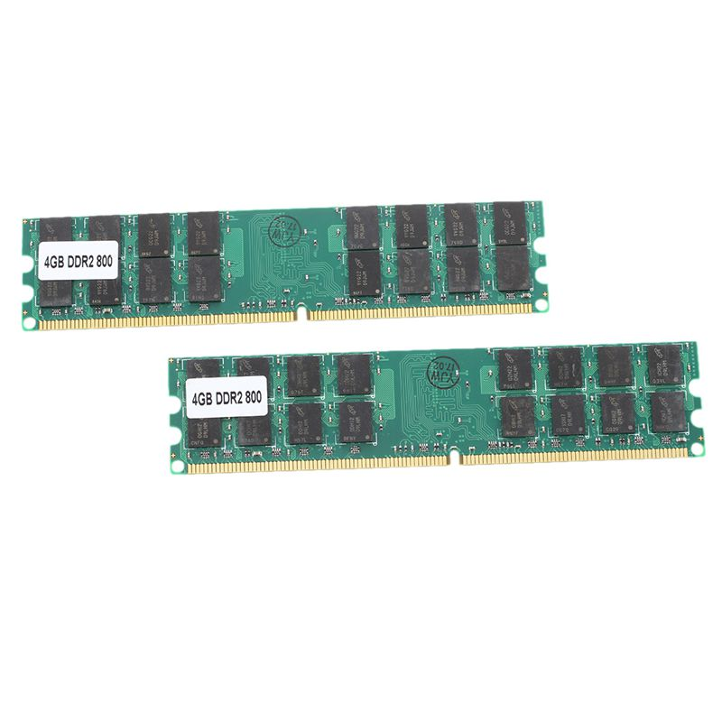 8G (2x4G) memoria RAM DDR2 PC2-6400 800MHz escritorio no-ECC DIMM 240 Pin para AMD Kembona original chips marca PC de escritorio DDR2 1 GB/2 GB/4 GB 800 MHz/667 MHz/533 MHz DDR 2 DIMM-240-Pins escritorio memoria Ram
