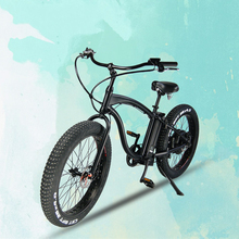 "Fr26c #8211 Electric Beach Cruiser Bicycle 26 #8243 Fat Bike Electric Aluminum Alloy Frame E Bike Fat Tire 4 0 #215 26 Electric Bike cheap Lithium Battery 351 - 500w 31 - 60 km One Seat 26"" 30-50km h Brushless STEEL Mini Type FR26A - Electric Beach Cruiser Bicycle"
