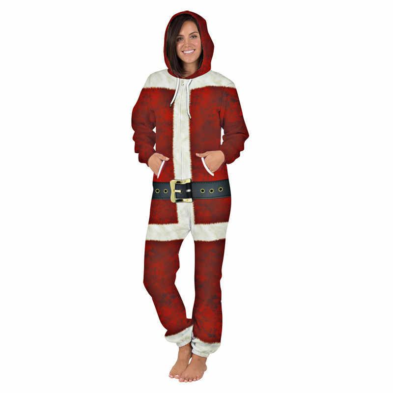Navidad trajes de cosplay de las mujeres/los hombres de ocio desgaste 3d Galaxy Animal amante de la ropa de casa lindo mono conjuntos de sudaderas