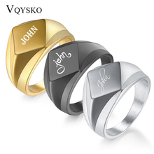 Men Rings Prismatic Jewelry Finger-Steel Gold Black Personality for 18mm-Width New