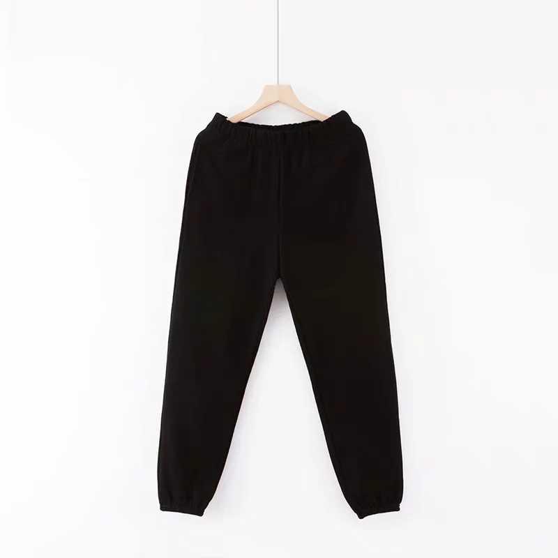Vitage/черные брюки с высокой талией; Женские шаровары; Повседневные хлопковые брюки для бега; Женские спортивные штаны; Уличная одежда; Брюки хиппи; Женские брюки