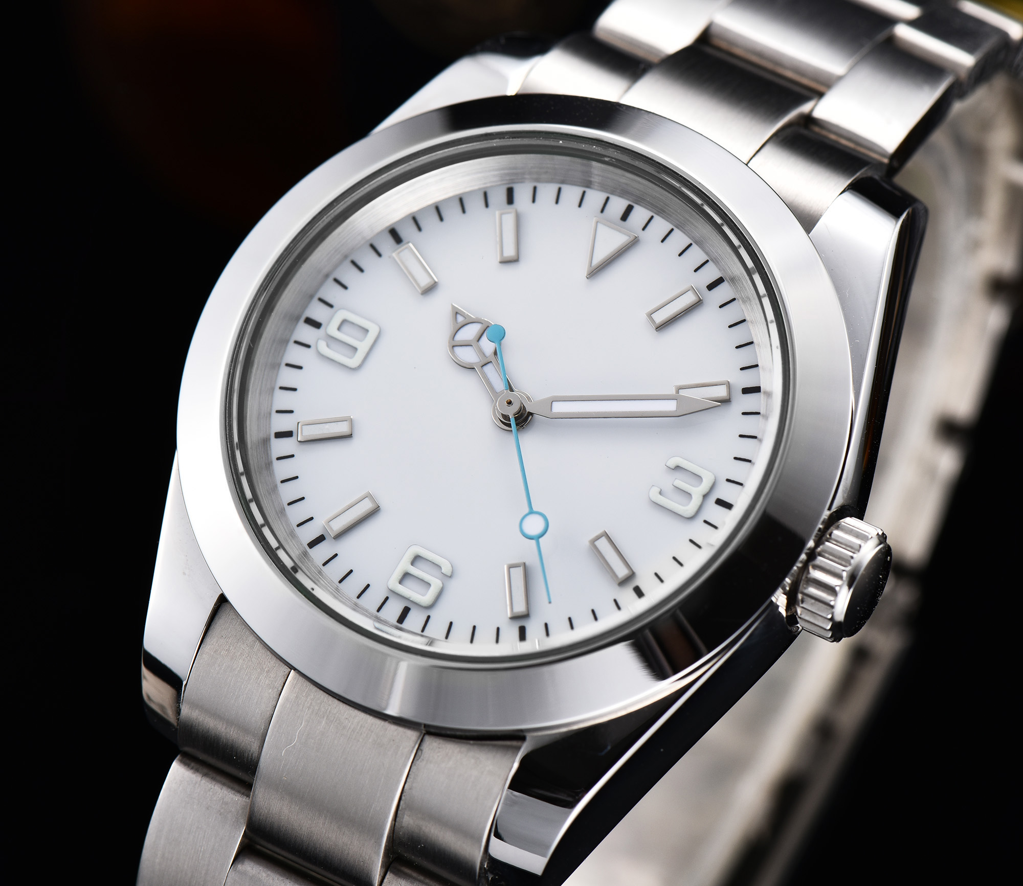 watch men automatic mechanical watch Luminous waterproof 316L Solid stainless steel 40MM LLS866