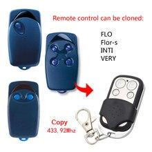 Flo 1 flor-s inti muito universal controle remoto transmissor porta da garagem fob 433.92mhz código fixo substituição duplicador