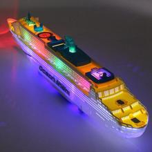 Kids Toys Pool Liner Cruise Ship Flashing LED Light Music Sound Ship Model Toy Children Birthday Christmas Gift