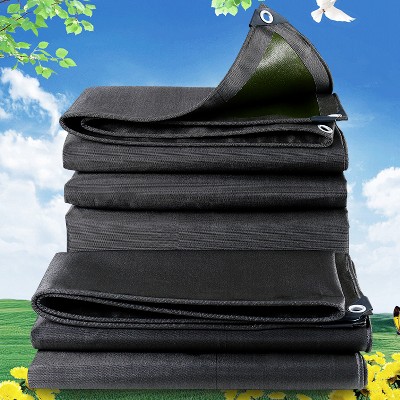 0.64mm Thicker Black-Green Tarpaulin Rainproof Cloth Outdoor Tent Waterproof Oilcloth Oxford Cloth Car Shed Cover Rainproof Sail