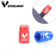 EVERDAWN Bike Tire Valve Cap Aluminum CNC Bicycle Schrader Protector Dust 2 Piece