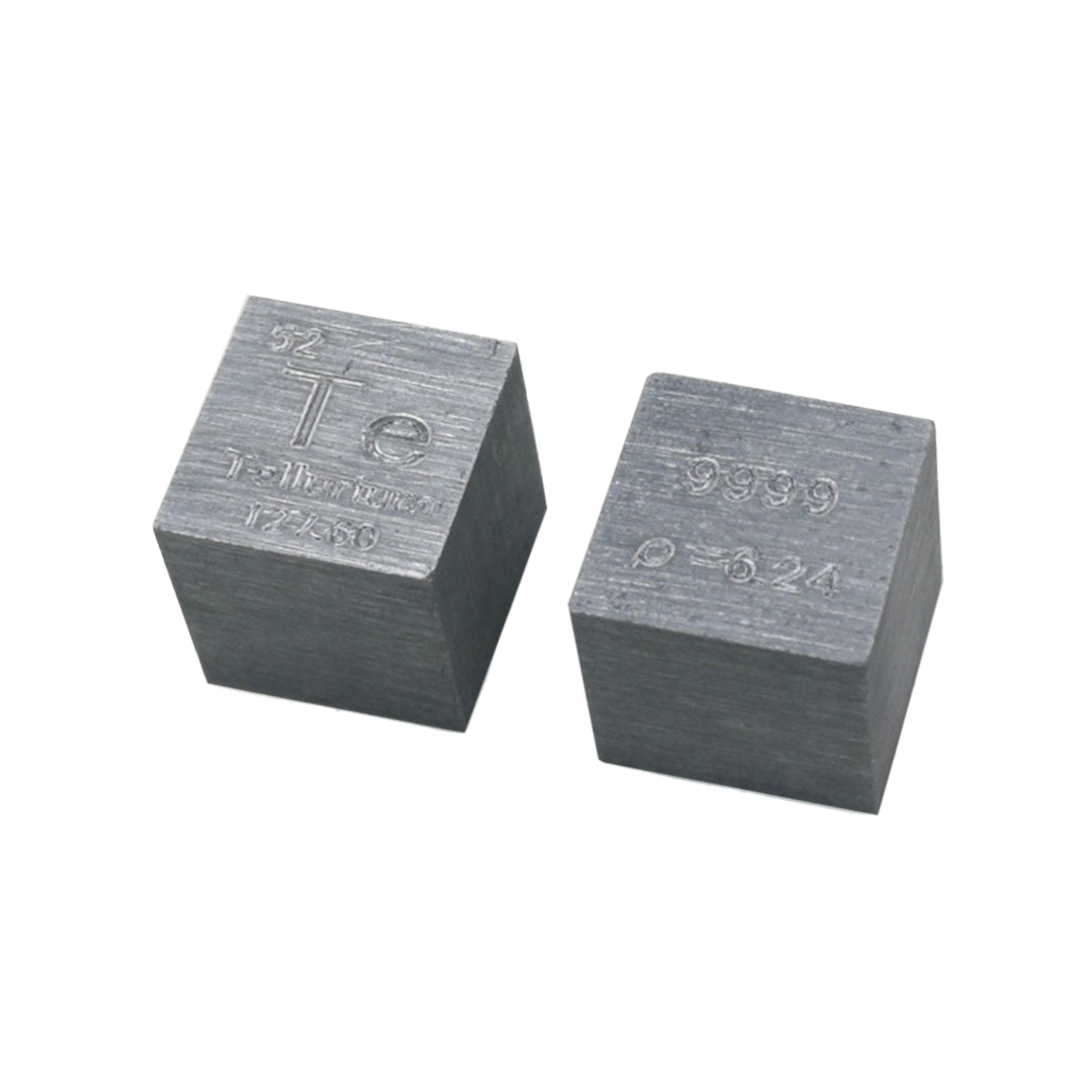 10 X 10 X 10mm (Te≥99.99%) Wiredrawing Metal Tellurium Cube Periodic Table Of Elements Cube DIY Home Crafts Display Science