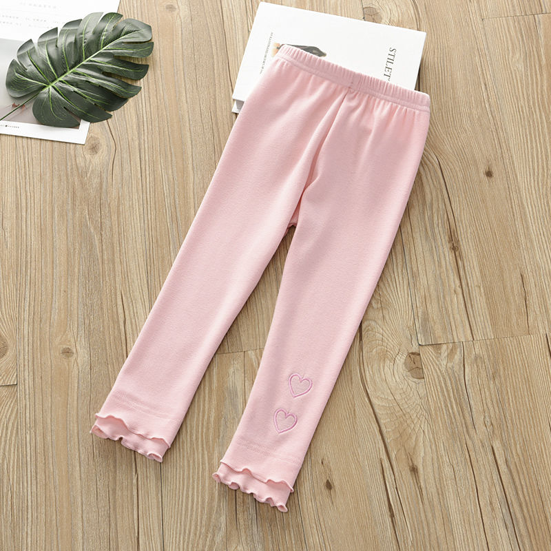 Vidmid Girls Cotton Casual Leggings Cropped Pants Baby Wear Elastic Summer Thin Section Children's Modal  Trousers Clothes P211 3
