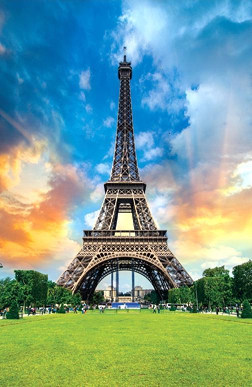Eiffel Tower France Flag DIY Educational 3D Puzzles Jigsaw Kids Adult 35 pieces