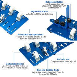 Image 2 - DIY 전문 유리 병 커터 도구 맥주 와인 DIY 병 절단 유리 병 커터 컷 기계 및 샹들리에 만들기