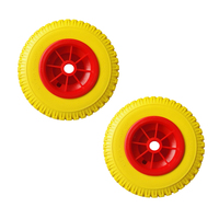 1 Pair of 10 0.88 Durable Puncture Proof Rubber Tire on Red Wheel for Kayak Trolley Cart Boat Trailer