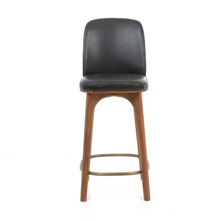 Solid Wooden Bar Chair Modern Simple Backrest Bar Chair Light Luxury High Footstool Bar Stool Family Bar Stool Bar Chair