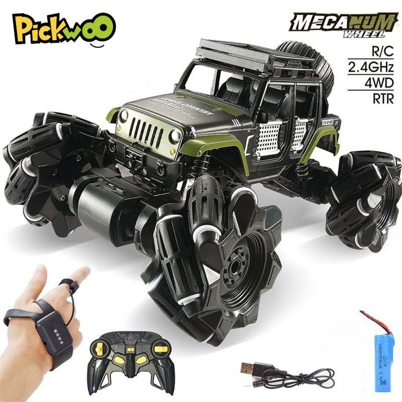 Pickwoo C1 alliage RC voiture 2.4Ghz 4CH 1:16 cascadeur dérive chenille double télécommande voiture 360 degrés retournement véhicule jouets pour enfants