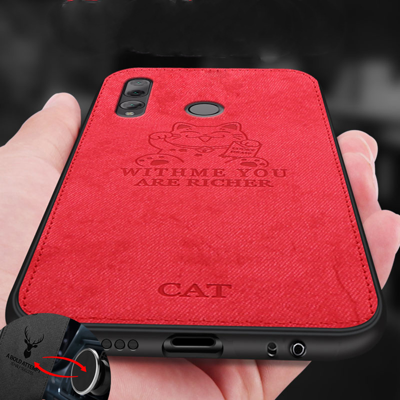 Cloth Texture Lucky Cat 3D Soft Magnetic Car Case For Xiaomi <font><b>Mi</b></font> 9 Magnet Plate Case For <font><b>Xaomi</b></font> <font><b>Mi</b></font> 9 Mi9 Cover Silicone <font><b>Funda</b></font> Etui image