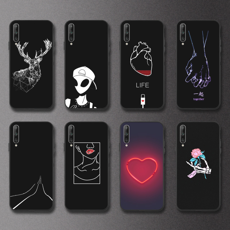 Black <font><b>3D</b></font> Painted <font><b>Case</b></font> For <font><b>Vivo</b></font> Y83 Pro Y71 <font><b>Y69</b></font> Y66 Y55 Y53 Silicone Soft Phone Cover For <font><b>Vivo</b></font> IQOO Neo Z5X Back Cover Bumper image
