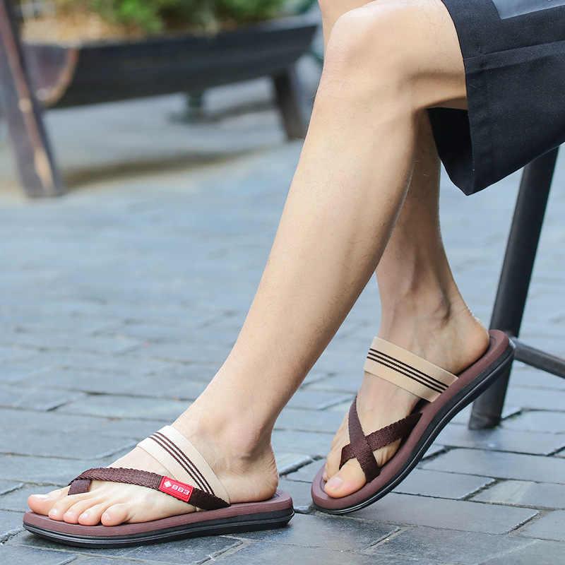 รองเท้าผู้ชาย 2019 ฤดูร้อนใหม่รองเท้าแตะรองเท้าแตะชายรุ่น leisure เข็มขัดยืดหนาด้านล่างรองเท้าแตะชายหาด MTX008