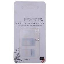 Nano sim-карта адаптер 4 в 1 адаптер Micro-SIM с извлекением Pin Ключ Розничная упаковка для IPhone/6/6 S/7/8 Plus/X