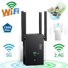 5ghz sem fio wifi repetidor 867mbps roteador wifi impulsionador 2.4g wifi extensor de longo alcance sinal repetidor wi-fi ponto acesso