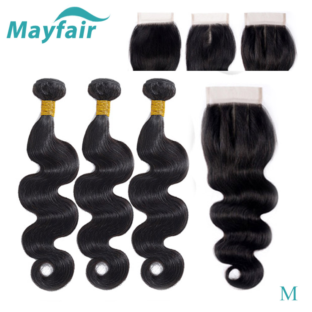 Body Wave Bundles With Closure Brazilian Hair Weave Bundles With Closure Non-remy Human Hair Bundles With Closure Hair Extension