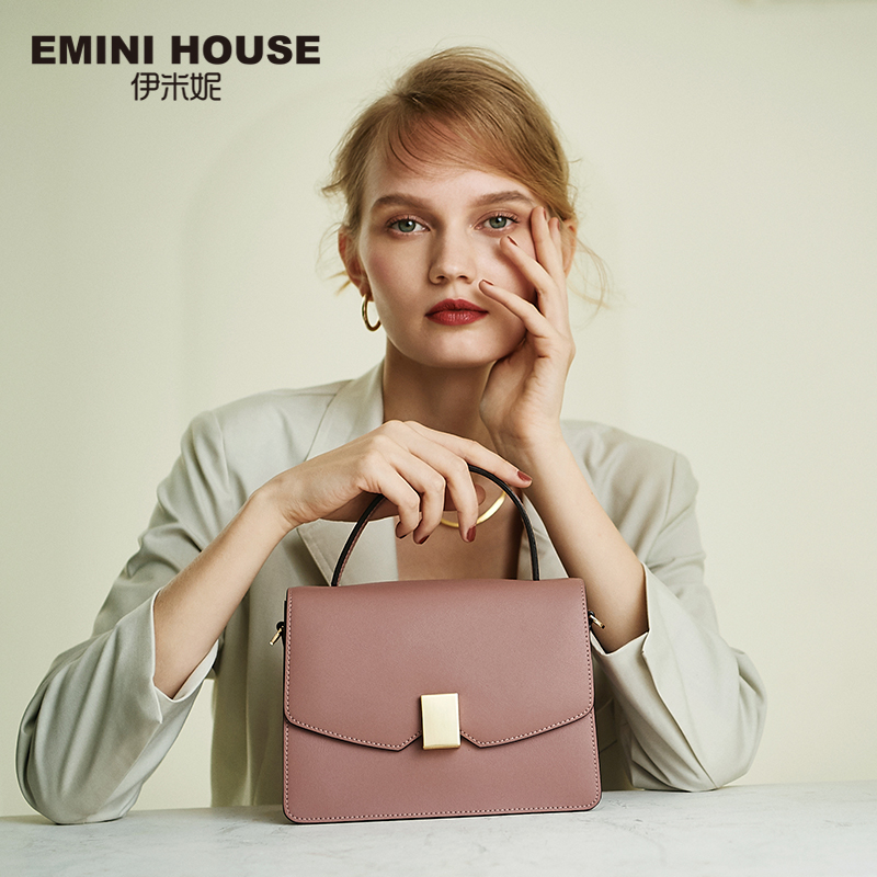 EMINI HOUSE Padlock Handbag Luxury Handbags Women Bags Designer Split Leather Crossbody Bags For Women Shoulder Bag