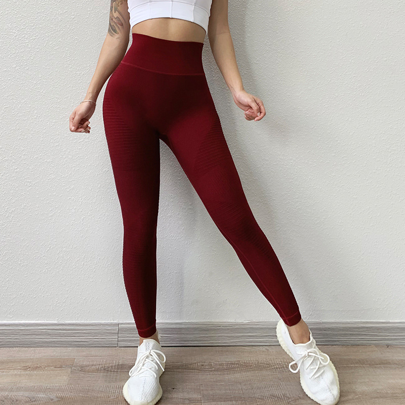 Energy Seamless Sports Fitness Leggings Gym Running Workout YG Pants Women High Waist Tummy Control Trousers Hip Lifting