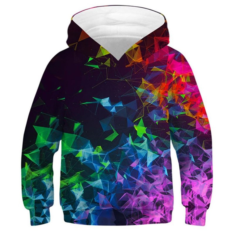 Space Galaxy Hoodie Sweatshirt For Boys 3D Print Children Oversized Hoodies For Girls Teen Hip Hop Streetwear Kids Clothes
