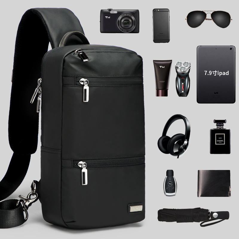Chest Pack Men Large-Volume Korean-style Fashion And Personality Trend Travel Casual Sports Bag Shoulder Cross-body Small Backpa