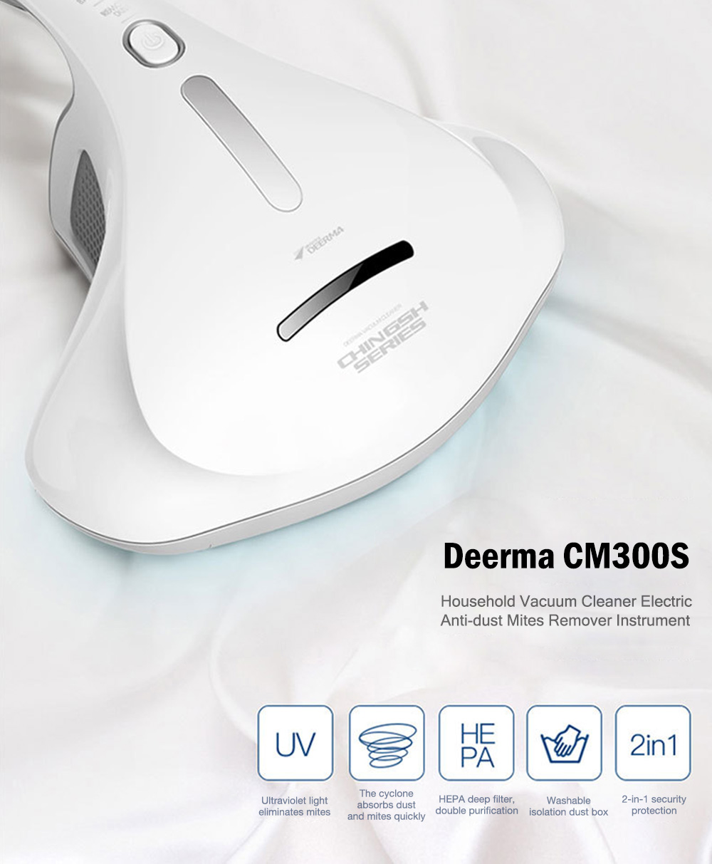 Hand Held DEERMA CM300S Anti Dust Mites UV Vacuum Cleaner for Bed Mattress and Pillow with HEPA Deep Filter 3