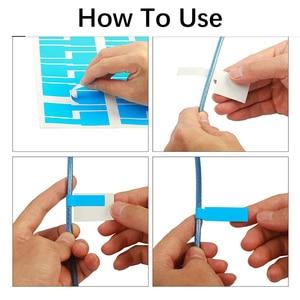 Image 3 - 750Pcs Cavo etichetta adesiva A4 Filo di Carta di Rete Ethernet Cavo Elettrico Etichette Cavo Tag Marker Stampa Adesivi Organizzatore
