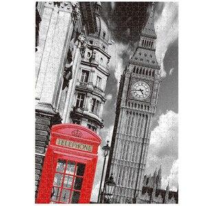 Пазлы с часами и башней, деревянные пазлы 1000 штук, сборочные Пазлы для картин, игрушки для взрослых, детей, развивающие игры