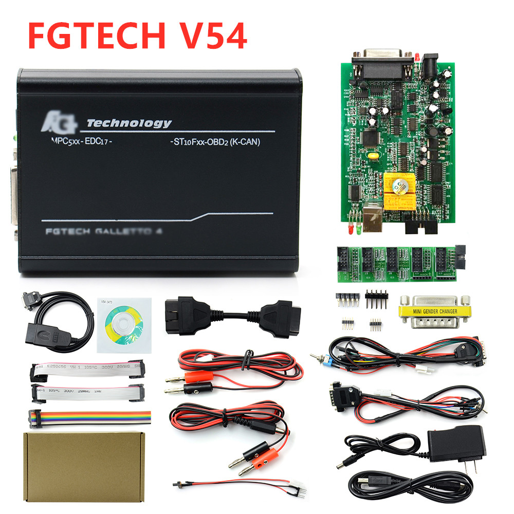 High Quality 2019 FGTech V54 Galletto 4 Full Chip Support BDM Function Fg Tech Auto ECU Tuning Multi-Language