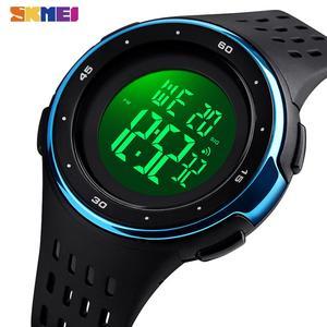 SKMEI спортивные часы для мужчин водонепроницаемые цифровые мужские наручные часы PU мягкий ремешок Chrono часы мужские reloj hombre 1537
