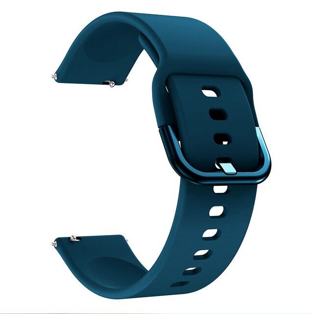 Bracelet de montre 20mm pour Samsung Galaxy montre Active 2 40/44mm Sport silicone bracelets intelligents pour Samsung Gear S2 classique 732 bracelet 5