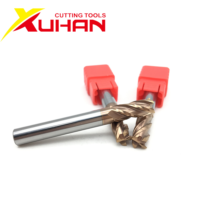 HRC55 Carbide End Mill 75mm 100mm Length 4Flutes Milling Cutter Alloy Coating Tungsten Steel Cutting Tool CNC Maching Endmills