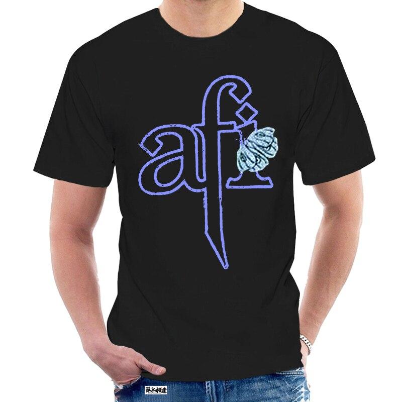 AFI-camiseta negra con estampado personalizado, Camiseta de algodón con estampado personalizado, Banda de Música, Emo, 2003