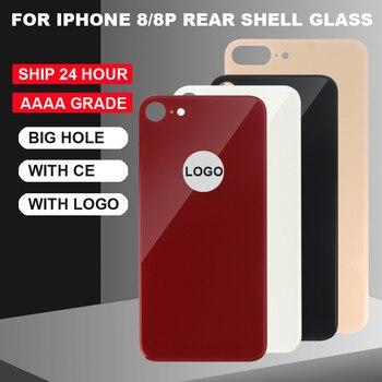 Перейти на Алиэкспресс и купить GradeAAA + + + стеклянная задняя крышка с большим отверстием, для iPhone8 8 plus стеклянная задняя крышка
