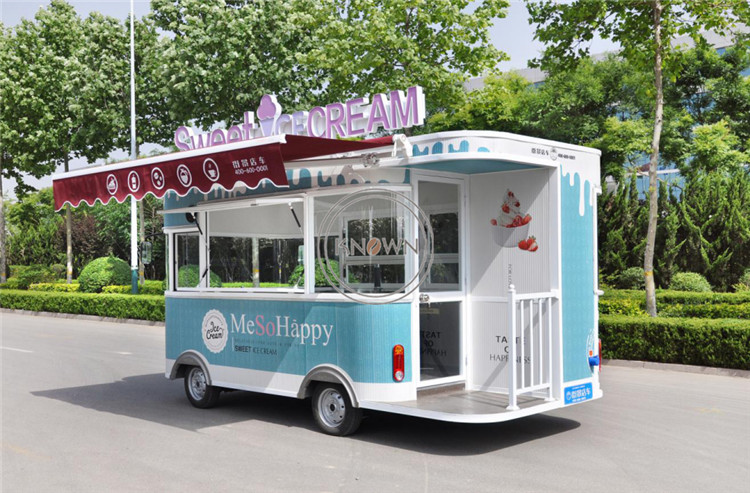 2019 Popular 4.2m Long  Food Truck Customized Food Kiosk Multifunctional Electric Food Cart