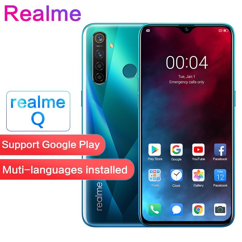 Realme Q 6.3''Full Screen 2340×1080 5cameras 48MP Waterproof Super VOOC  R 5 Pro Snapdragon 712AIE Octa Core Face+Fingerprint ID