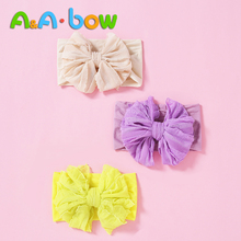 Baby Headband Headwear-Accessories Knot Nylon Fashion Knit Bow Cute 1pc 7-Colors Cable